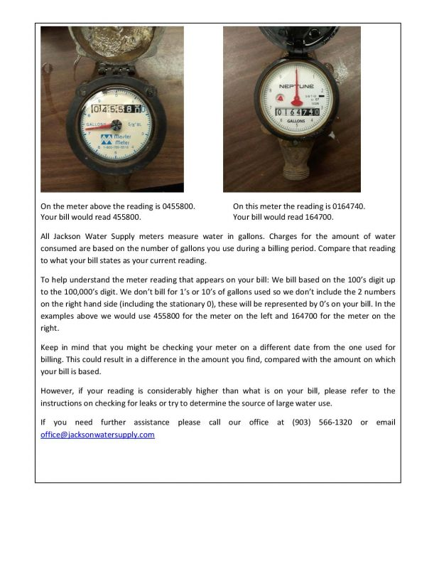 How to Read Your Meter - Page 2